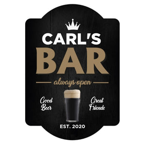 Personalised Stout Bar Sign