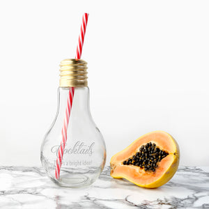 Personalised Bright Idea Lightbulb Cocktail Glass | Bits & Bobbets