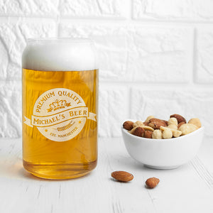 Personalised Premium Quality Beer Can Glass | Bits & Bobbets