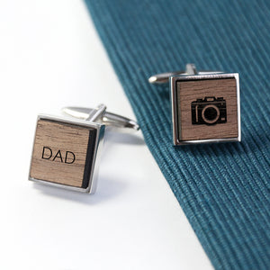 Personalised Engraved Square Cufflinks | Bits & Bobbets