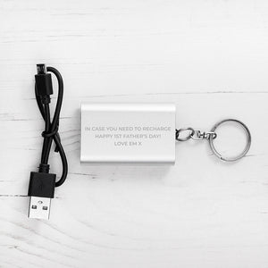 Emergency Personalised Mini Powerbank Keyring | Bits & Bobbets