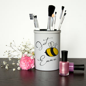 Personalised Bee You Brush Holder | Bits & Bobbets