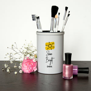 Personalised Shine Bright Brush Holder | Bits & Bobbets