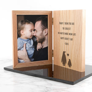 Engraved Father's Day Penguin Book Photo Frame | Bits & Bobbets