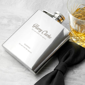 Personalised Best Man 'Speech' Hip Flask | Bits & Bobbets