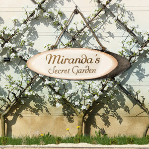 Secret Garden Personalised Wooden Sign | Bits & Bobbets