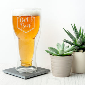 Personalised Bottoms Up Beer Glass | Bits & Bobbets