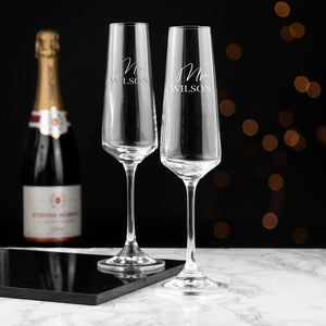 Personalised Couples' Champagne Flute Set | Bits & Bobbets