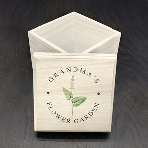 Personalised Flower Garden Seeds Box | Bits & Bobbets