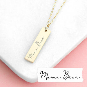 Personalised Handwriting Bar Necklace | Bits & Bobbets