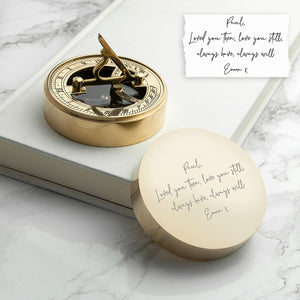 Personalised Handwriting Sundial Compass | Bits & Bobbets