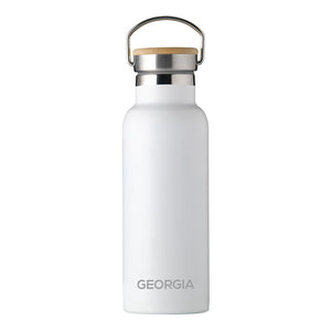 Small Personalisation Insulated Bottle Bamboo Lid
