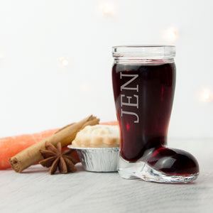 Personalised Santa Boot Shot Glass | Bits & Bobbets