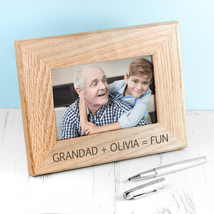 Personalised Fun with Grandad Photo Frame