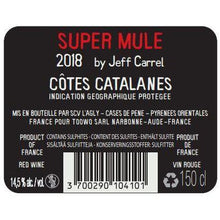 Afbeelding in Gallery-weergave laden, Super Mule  - Jeff Carrel, Cotes Catalanes - 2017 - 1500 - Languedoc Roussillon - Frankrijk - HermanWines