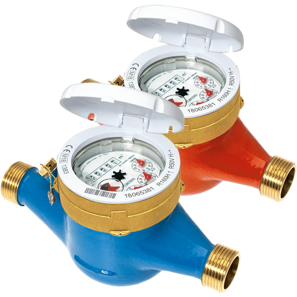 BMeters Water Meter Wireless M-Bus BSP Screwed DN15, (15mm) Q3 2.5 - L165mm