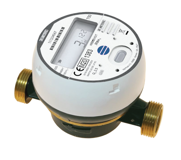 BMeters Hydrodigit Wireless Water Meter M-Bus BSP Screwed DN20, (20mm) Q3 4 - L130mm