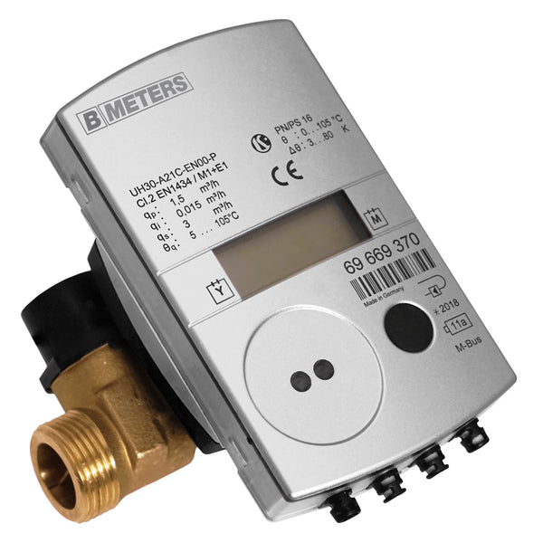 BMeters Ultrasonic Thermal Energy Meter, Wired M-Bus -BSP Screwed