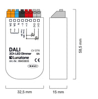 Lunatone DALI 2Ch LED dimmer CV (Constant Voltage)