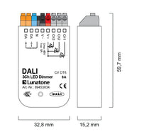 Lunatone DALI 3Ch LED dimmer CV (Constant Voltage)