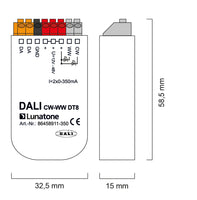 DALI DT8 CW-WW LED dimmer CC (Constant Current)