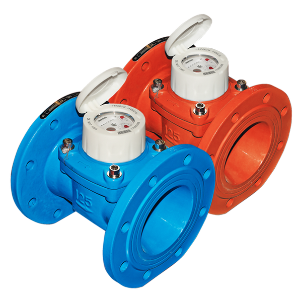 BMeters Water Meter Wireless M-Bus PN16 Flanged DN50, (50mm) Q3 40 - L200mm