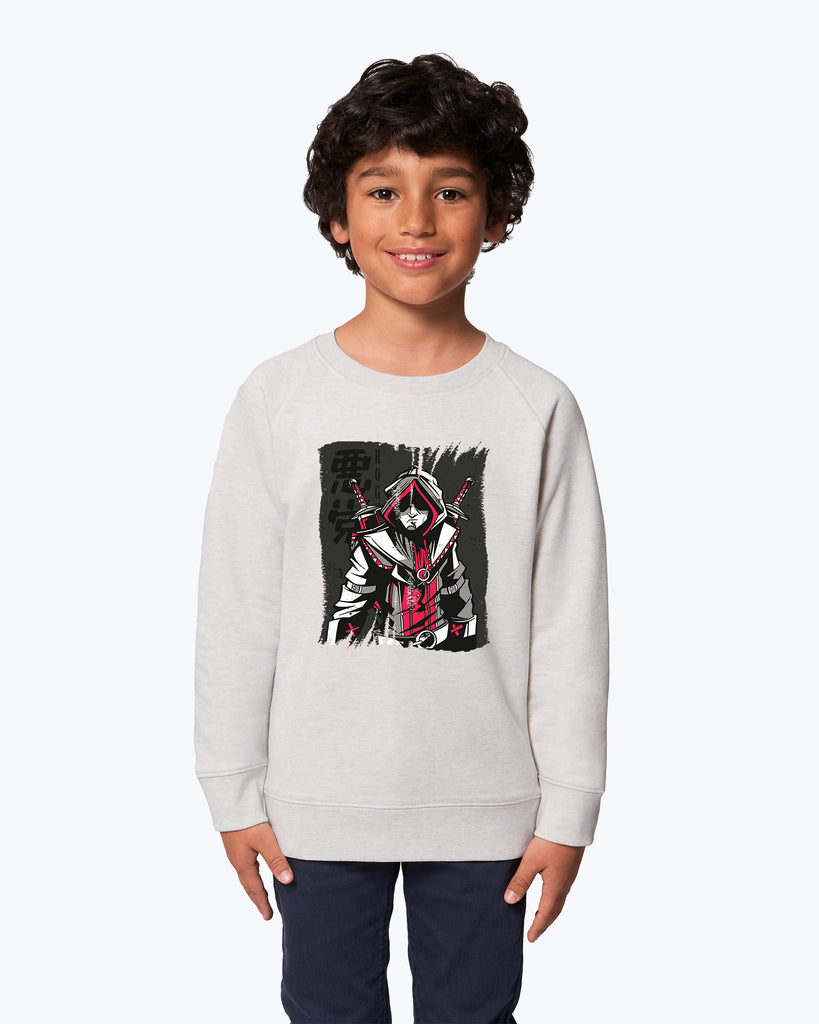 Kids Sweater Rogue Red And Grey