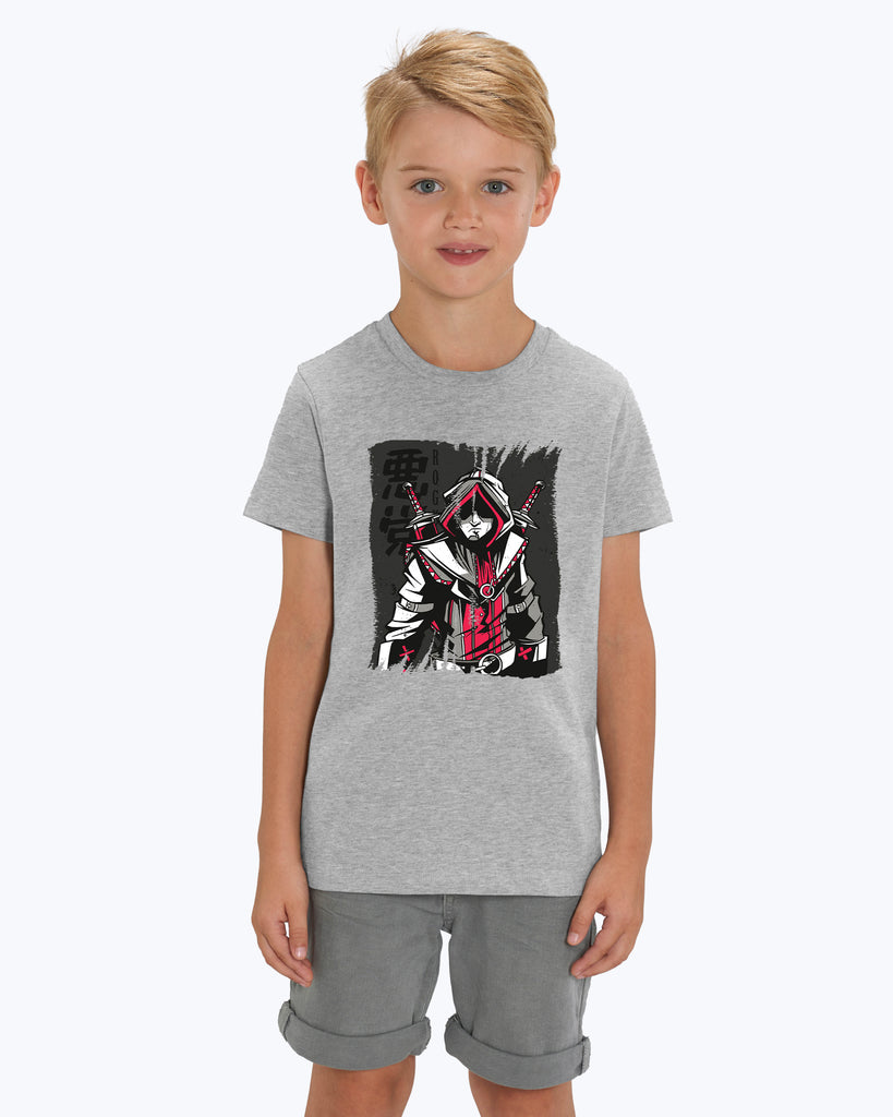 Kids T-Shirt Rogue Red And Grey