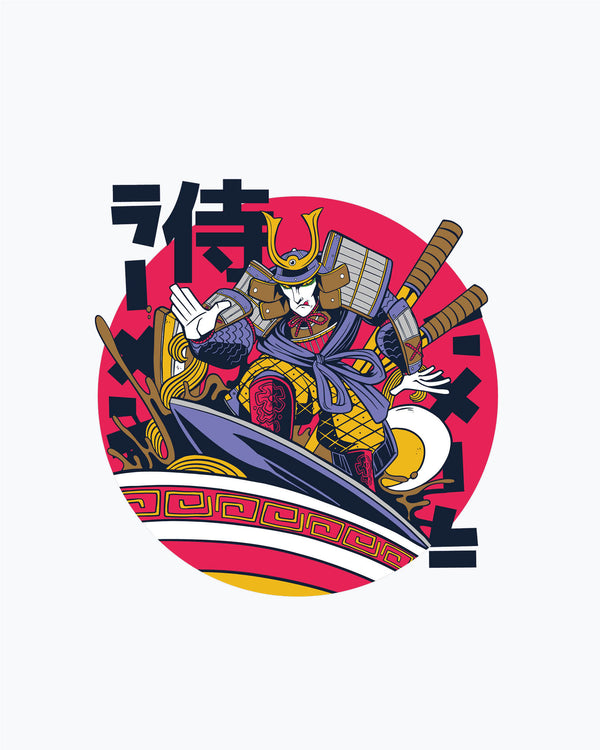 Kids T-Shirt Samurai In Ramen Bowl