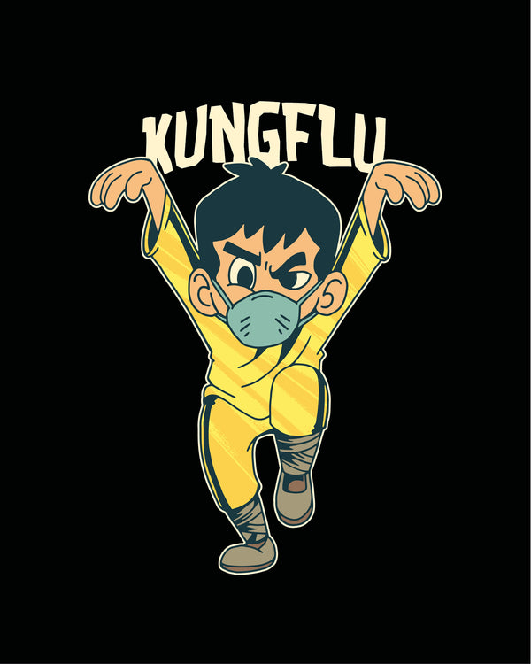 T-shirt Kung Flu Kid