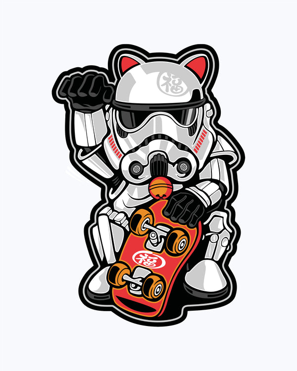 Kids T-Shirt Storm Trooper Lucky Cat
