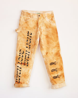 TRAIN RUST DYED DICKIES PANTS - M