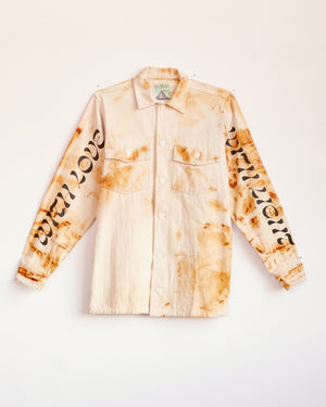 TRAIN YARD RUST DYED CHORE JACKET - M