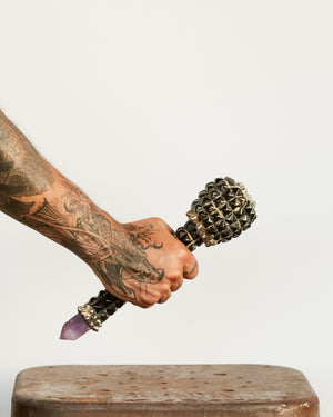 AMETHYST MOUNTAIN PROTECTION WITH QUARTZ AND PYRITE