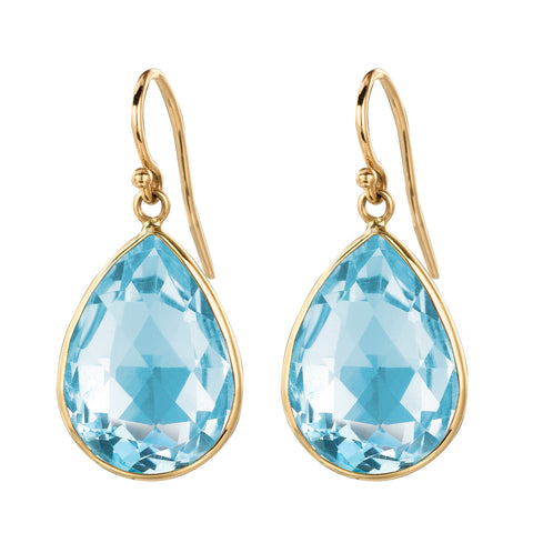 Blue Topaz Pear Shape Earrings