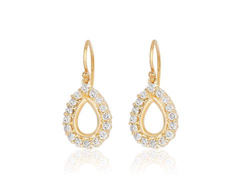 Diamond Pear Shape Earrings