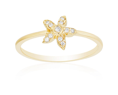 Small Diamond Starish Ring