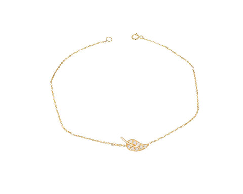Diamond Leaf Bracelet