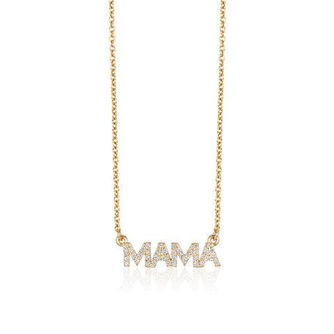Mini Diamond MAMA Necklace