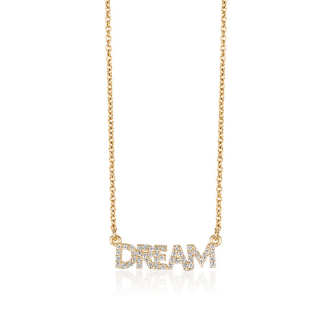 Mini Diamond DREAM Necklace
