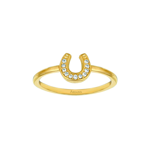 Diamond Horseshoe Ring on Thick Shank for NYCLASS