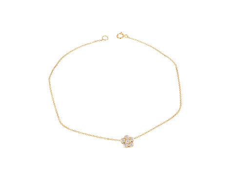 One Diamond Flower Bracelet