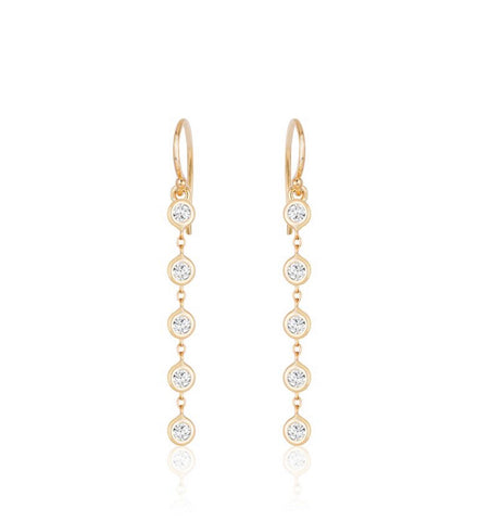 Five Diamond Earrings