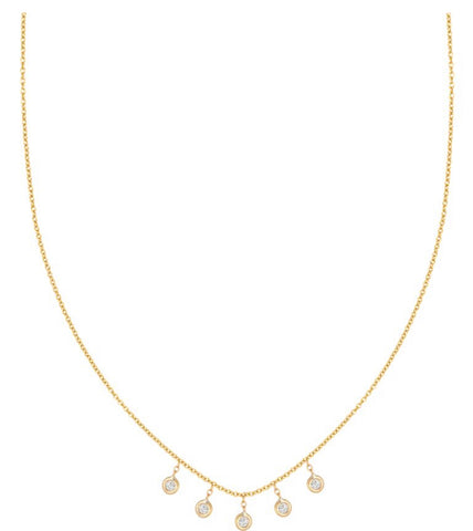 Five Dangle Diamonds Necklace