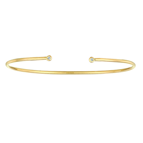 Bangle with Two Diamonds