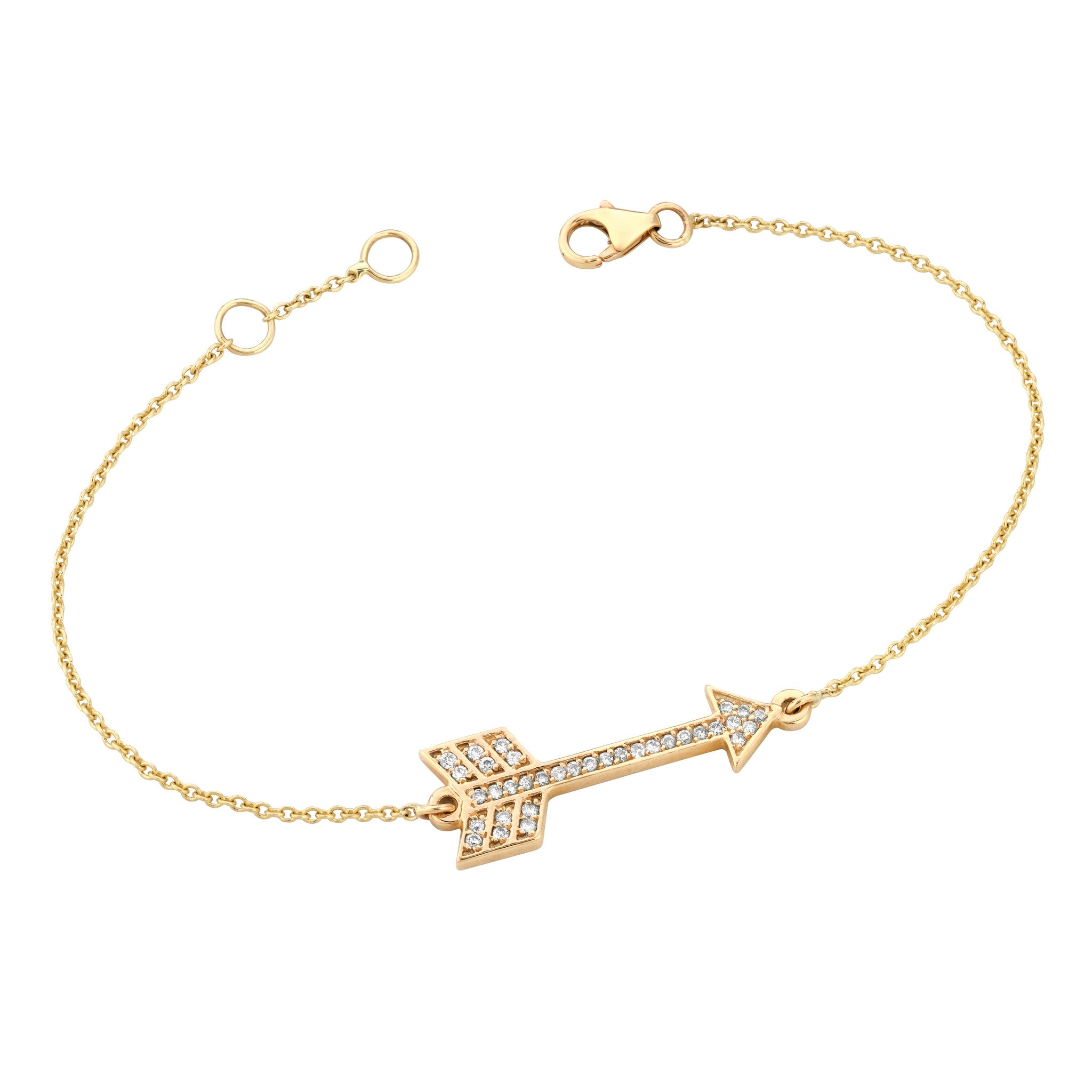 retrospective gold products jewellery arrow bracelet arlette