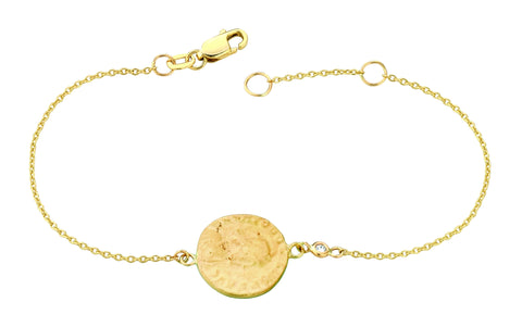Coin and Diamond Bracelet
