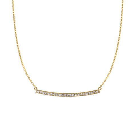 Long Diamond Bar Necklace