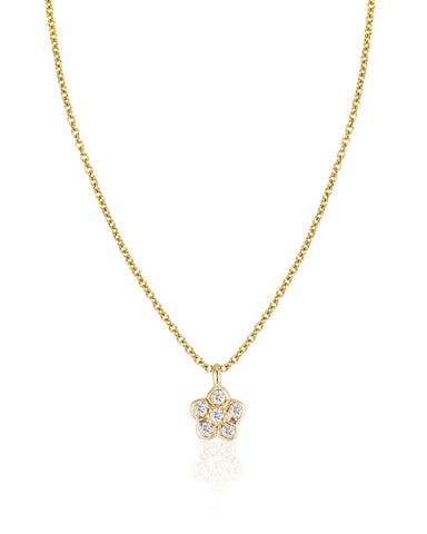 Small Diamond Flower Necklace