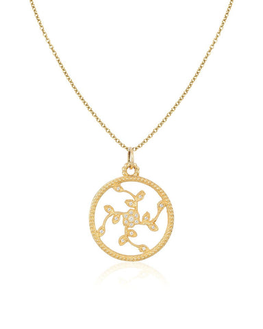 Diamond & Gold Tree of Life Necklace